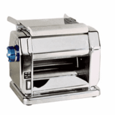 "Omcan (Fma) Pasta Sheeter Electric 8.25"" Roller Length 3/8"" Max Roller Opening Stainless Steel Body, Model# 13232"