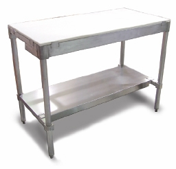 """Omcan (Fma) Polytop Table Frame 30""""D X 48""""W X 36""""H with Stainless Steel Frame and Undershelf (Poly Boards Sold Separately) Model# 41276"""