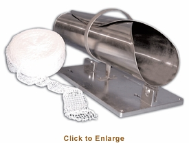 """Omcan (Fma) Roast Beef Tyer Stuffing HornLarge32""""L5"""" Front Opening13-1/2"""" Rear Opening12"""" ExpansionStainless Steel, Model# 10473"""