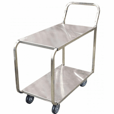 Omcan (Fma) Stainless Steel Solid Top Mobile Stocking Cart, Model 13118