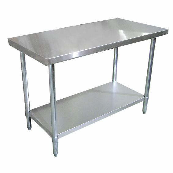 Omcan Standard Work Table W X L WoBacksplash NSF - 18 x 48 stainless steel work table