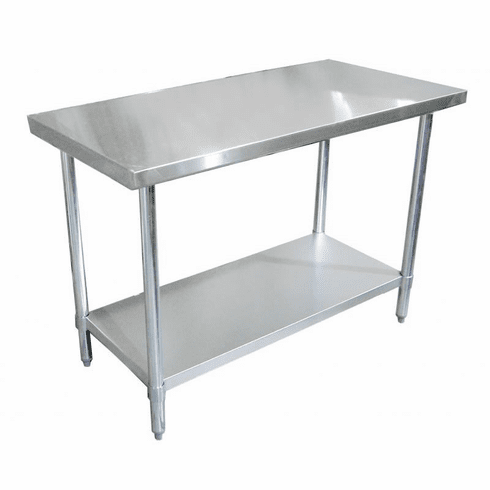 """Omcan (Fma) 24"""" x 24"""" Stainless Steel Work Table NSF Approved, Model 22063"""