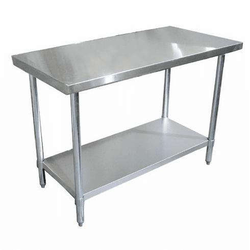 """Omcan (Fma) 30"""" x 30"""" Stainless Steel Work Table NSF Approved, Model 22071"""
