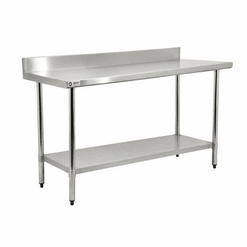 "Omcan (Fma) 24"" x 48"" Stainless Steel Work Table w/ 4"" Backsplash NSF Approved, Model 22081"