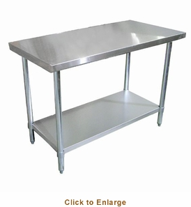 "Omcan (Fma) 'Standard Work Table48""W X 24""D18/430 Stainless Steel TopWithout BacksplashNsf, Model# 22066"