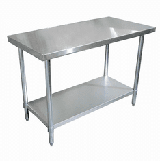 "Omcan (Fma) 'Standard Work Table72""W X 24""D18/430 Stainless Steel TopWithout BacksplashNsf, Model# 22068"