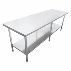 """Omcan (Fma) 24"""" x 96"""" Stainless Steel Work Table NSF Approved, Model 22070"""