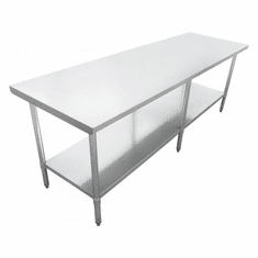 "Omcan (Fma) 30"" x 96"" Stainless Steel Work Table NSF Approved, Model 22077"