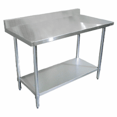 "Omcan (Fma) 'Standard Work Table96""W X 30""D18/430 Stainless Steel TopNsf, Model# 22092"