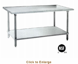 "Omcan (Fma) Work Table 24"" X 48"" 35-3/4"" Height 20 Gauge / 430 Stainless Steel NSF, Model# 19138"