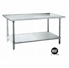 "Omcan (Fma) Work Table 30"" X 30"" X 35-3/4"" Height 20 Gauge / 430 Stainless Steel, NSF Model# 19142"