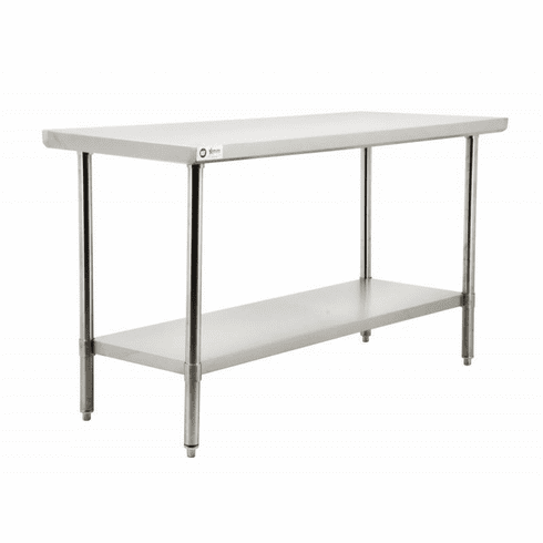 """Omcan (Fma) 24"""" x 24"""" Stainless Steel Work Table w/ 20 Gauge 430 Stainless NSF, Model 19135"""