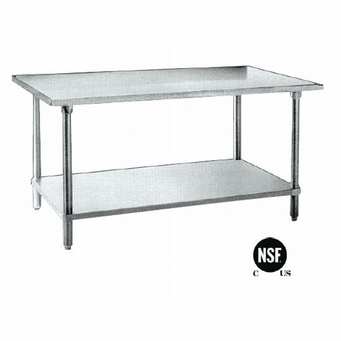 """Omcan (Fma) 'Work Table24"""" X 30""""35-3/4"""" Height20 Gauge 430 Stainless SteelNsf, Model# 19136"""
