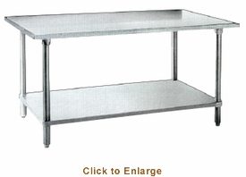 """Omcan (Fma) 'Work Table30"""" X 84""""35-3/4"""" Height20 Gauge 430 Stainless SteelNsf, Model# 26045"""