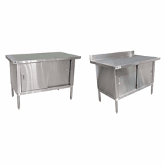 "Omcan (Fma) 'Work Table72""W X 30""D18/430 Stainless Steel TopWith 4"" BacksplashNsf, Model# 24405"