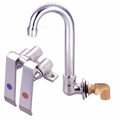 Omcan Knee Valve Assembly And Gooseneck Faucet For Sink, Model# 23332