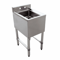 Omcan Under Bar Sink With 1 Compartment And No Drain Board, Model# 44600