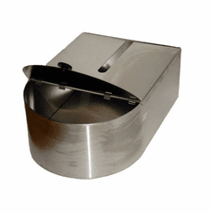 RF Hunter 80 Lb Stainless Steel Container w/ Cover Nsf (Made In The USA), Model# HF01080