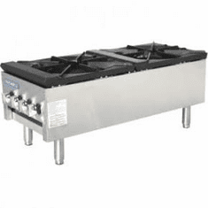Radiance By Turbo Air Double Stock Pot3 Ring BurnerShort Body, Model TASP-18S-D