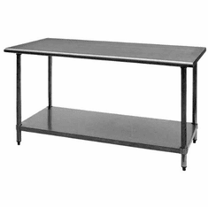 "Royal Industries Nsf Stainless Steel Work Table With Undershelf24"" X 60""18 GaugeRoy-Wt-2460, Model# ROY WT 2460"
