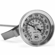 """Sausage Maker 1-3/4"""" Dial Thermometer 8"""" Stem w/ Clip, Model# 20-1019"""