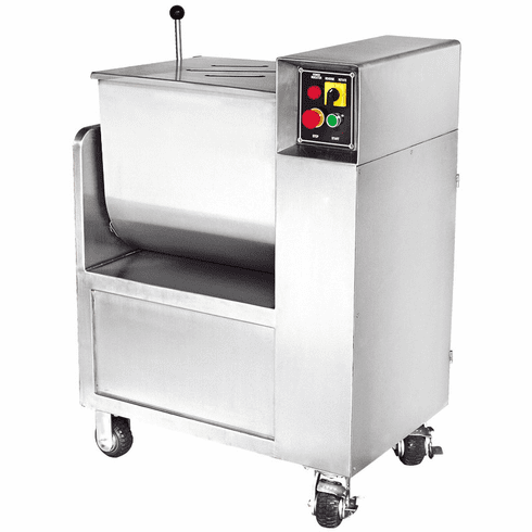 110 Lb Commercial Meat Mixer w/ Casters - Stainless Steel, Model# 44145 / 16-1212