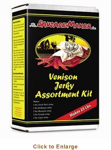 Sausage Maker Beef and Venison Jerky Assortment Kit Makes 25 Lbs , Model# 81008