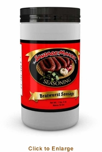 Sausage Maker Bratwurst Seasoning - Makes 50 Lbs, Model# 91100