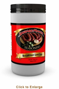 Sausage Maker Breakfast Sausage SeasoningLow Salt - Makes 50 Lbs, Model# 91202