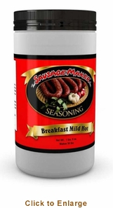 Sausage Maker Breakfast Sausage SeasoningMild-Hot - Makes 50 Lbs, Model# 91300