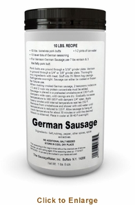 Sausage Maker German Sausage Seasoning - Makes 50 Lbs, Model# 91750
