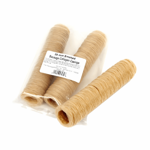 """Sausage Maker Smoked Collagen Casing - 38 Mm (1 1/2"""") - Makes 60+ Lbs, Model# 27930"""