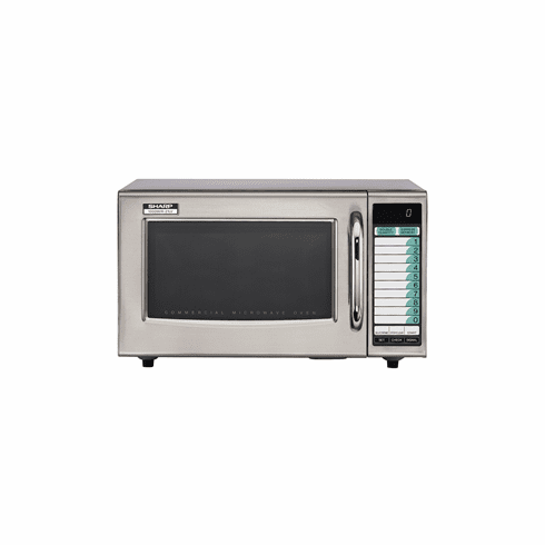 Sharp 1000 Watt Stainless Steel Commercial Microwave Oven, Model# R-21LVF