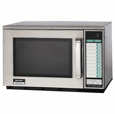 Sharp 2100 Watt Dual Magnetron Commercial Microwave Oven, Model# R-25JTF