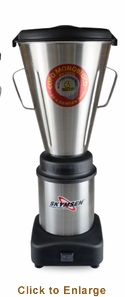 Skyfood (formally Fleetwood by Skymsen)1-1/2 Gal Blender 3,500 Rpm 1/2 Hp - Stainless Steel Seamless Container, Model# LAR-6MBS