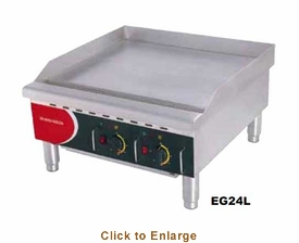 """Skyfood (formally Fleetwood by Skymsen) 24"""" Heavy Duty Grill Plate 220/60/1 - Dual Thermostat, Model# EG24L"""
