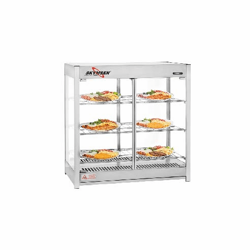 Skyfood (formally Fleetwood by Skymsen) Heated Merchandiser Cabinet - Pass Thru - Triple Shelf - Steam Line (1), Model# HMC-PT