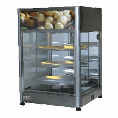 "Skyfood (formally Fleetwood by Skymsen) Skymsen Pizza Display Case - Triple Tray 18"" - Steam Line (1), Model# PD3TS18"