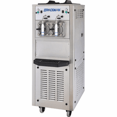 Spaceman High capacity, dual flavor floor-standing frozen beverage machine with Hopper Agitator, approved for dairy Model 6795H