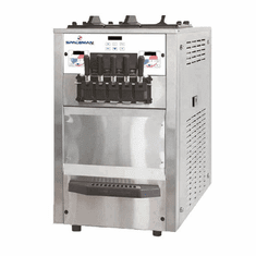 Spaceman High capacity, energy efficient twin-twist, floor standing soft serve machine with Hopper Agitator, 1-phase Model 6265H