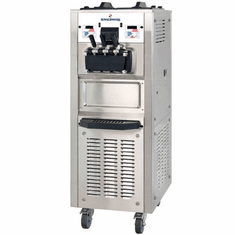 Spaceman High capacity twin-twist, floor standing soft serve machine with Hopper Agitator and Air Pump, 1-phase Model 6378AH