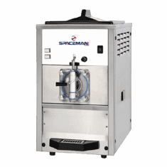 Spaceman Mid capacity, single flavor counter-top frozen beverage machine with Hopper agitator and Light Box Model 6490HL