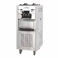 Spaceman Pressurized Mid capacity twin-twist counter-top soft-serve machine with Hopper Agitator and Air Pump Model 6250AH