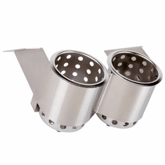 Steril-Sil 2-hole under-Bar silverware dispenser. Mounts under counters and bar tops and tables. For use with S-500 cylinders. Made in the U.S.A. Model UB-2