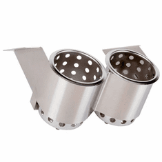 Steril-Sil 2-hole under-Bar silverware dispenser. Mounts under counters and bar tops and tables. Includes (2) S-500 cylinders. Made in the U.S.A. Model UB-2SS