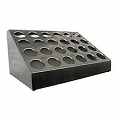 Steril-Sil 24-hole (4x6) countertop silverware and condiment dispenser. Holds Steril-Sil silverware cylinders or 30 oz. condiment containers. Made in the U.S.A. Model TC-24
