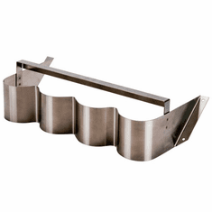 Steril-Sil 4-hole under-Bar silverware dispenser. Mounts under counters and bar tops and tables. For use with S-500 cylinders. Made in the U.S.A. Model UB-4