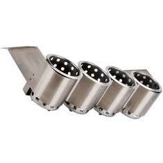 Steril-Sil 4-hole under-Bar silverware dispenser. Mounts under counters and bar tops and tables. Includes (4) S-500 cylinders. Made in the U.S.A. Model UB-4SS