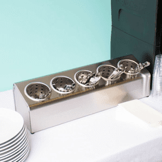 Steril-Sil 5-hole (1x5) countertop silverware and condiment dispenser. Holds Steril-Sil silverware cylinders or 30 oz. condiment containers. Made in the U.S.A. Model LTC-5