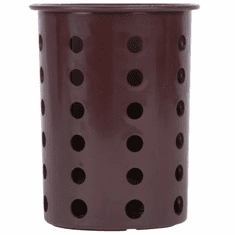 Steril-Sil Brown silverware cylinder. Straight-walled design for highest industry capacity, less silverware jamming and a stable base. Made in the U.S.A. Model RP-25-BROWN